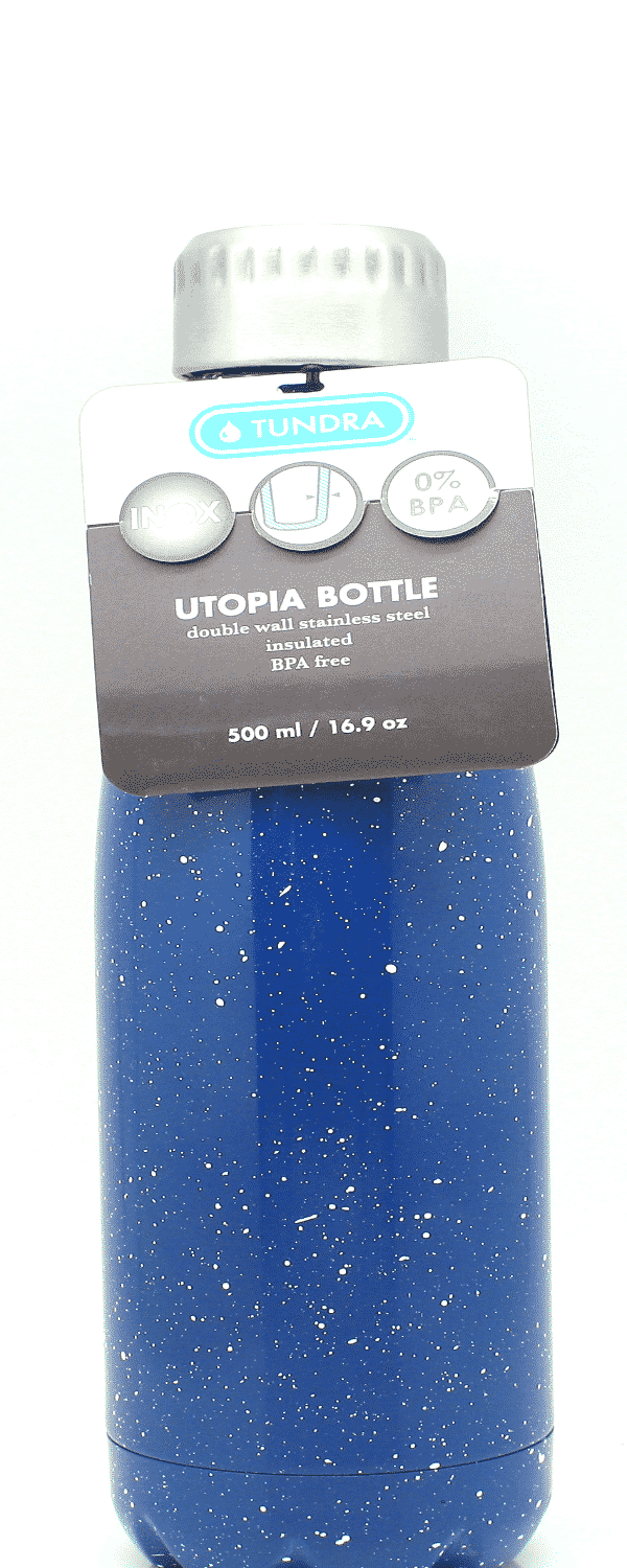 Tundra 16.9 oz. Stainless Steel Utopia Water Bottle - Midnight Blue Speckle - MV00005