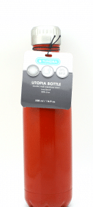 Tundra 16.9 oz. Stainless Steel Utopia Water Bottle - Red - MV0001