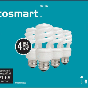 Ecosmart 60 watt cfl light bulbs