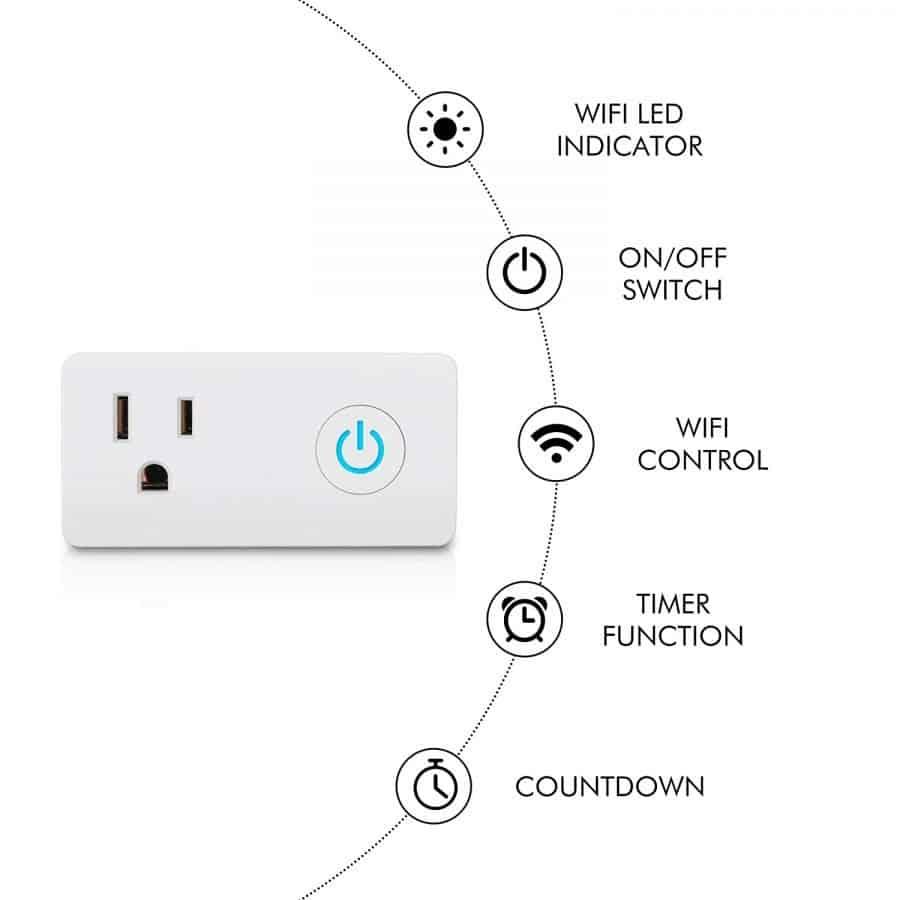 B07HPG58FP - BN-Link Wifi Heavy Duty Smart Plug Outlet