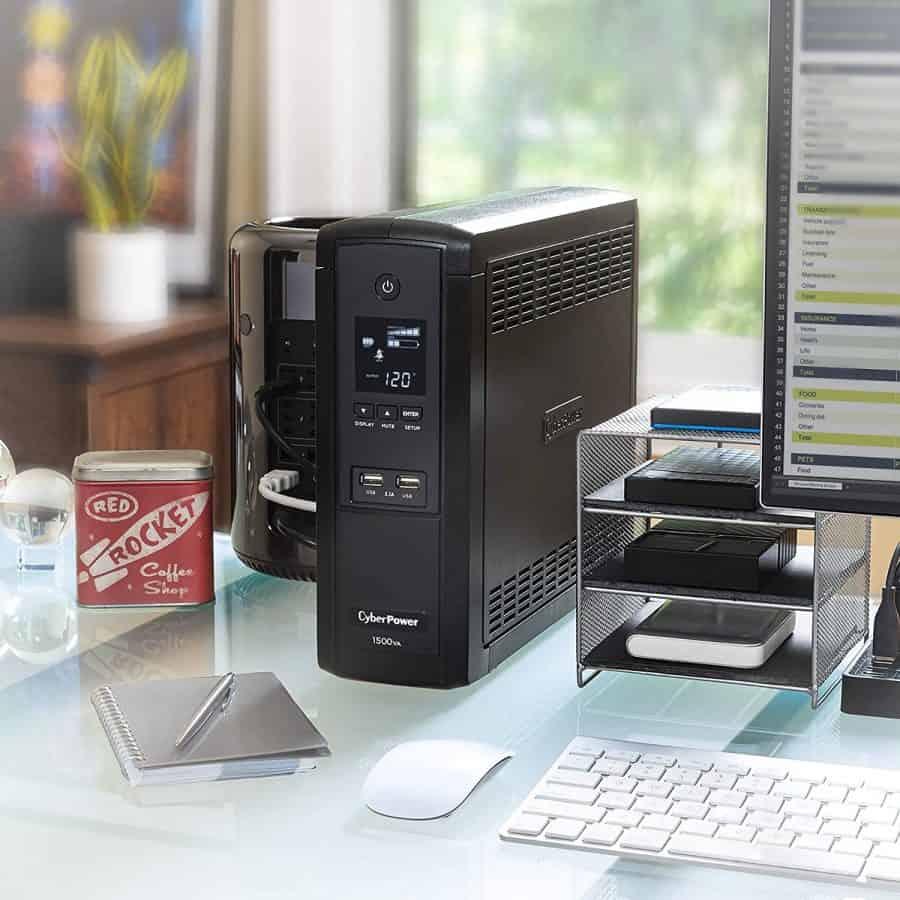 B00LEFYISA - CyberPower BRG1500AVRLCD Intelligent LCD UPS System